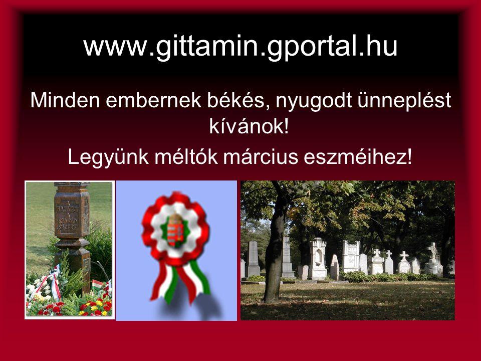 www.gittamin.gportal.hu Minden embernek békés, nyugodt ünneplést kívánok.