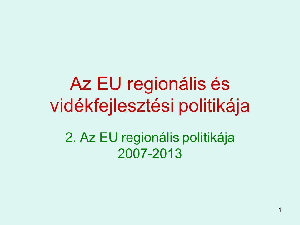 Az EU regionális és vidékfejlesztési politikája