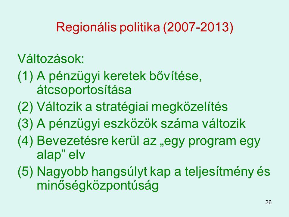 Regionális politika (2007-2013)