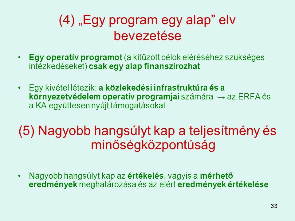 """(4) """"Egy program egy alap elv bevezetése"""