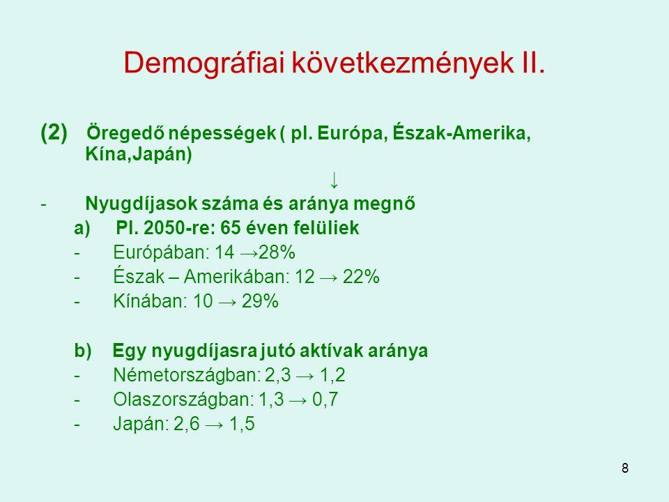 Demográfiai következmények II.