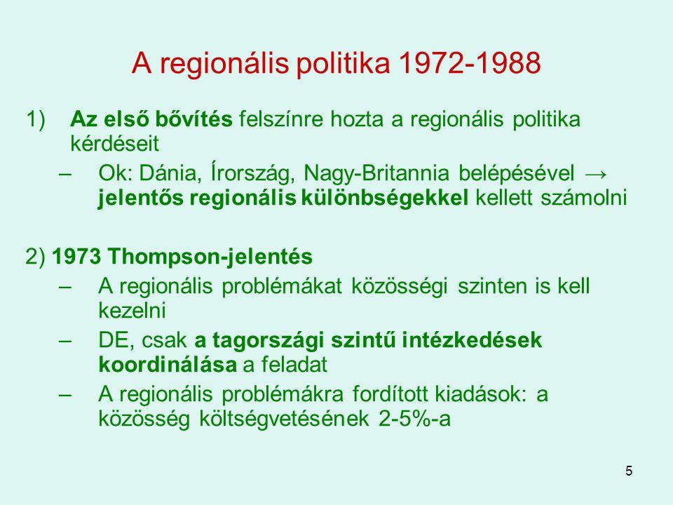 A regionális politika 1972-1988