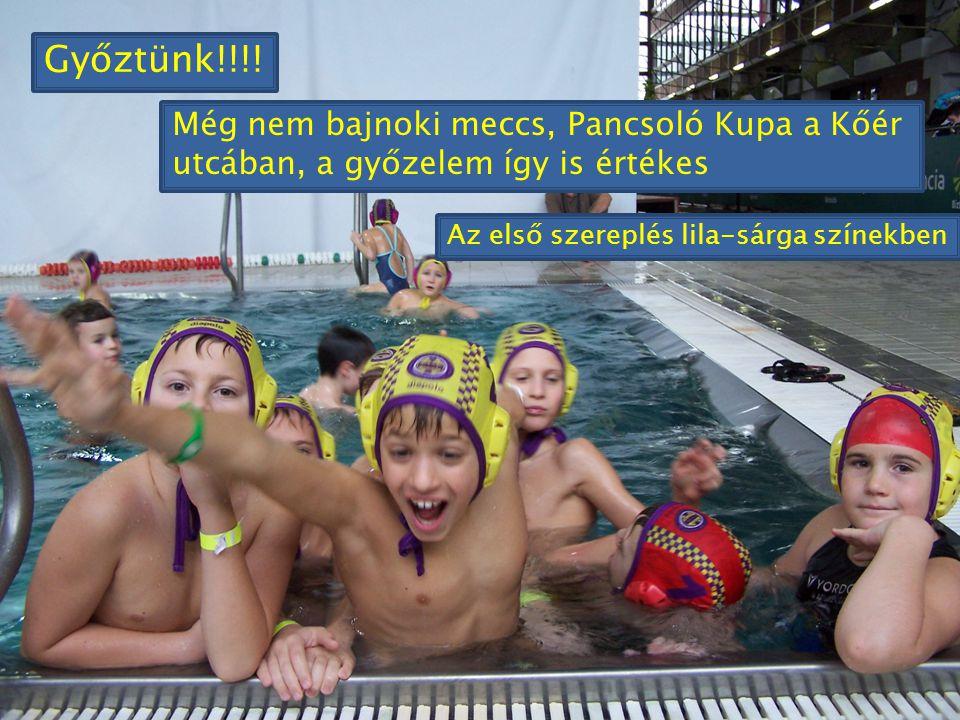 Győztünk!!!. Még nem bajnoki meccs, Pancsoló Kupa a Kőér utcában, a győzelem így is értékes.