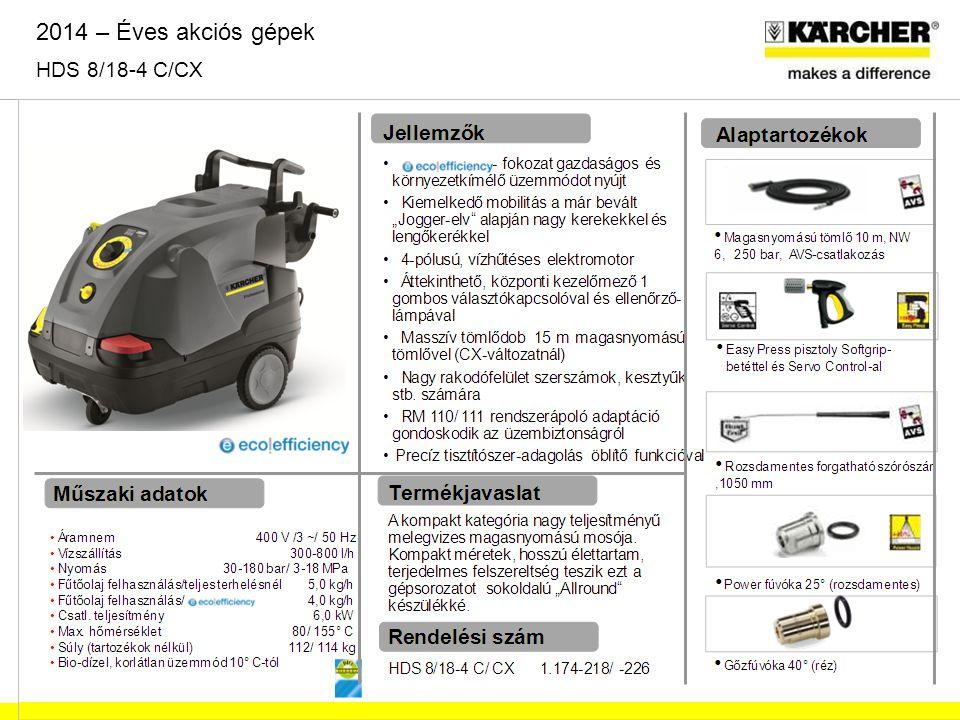 2014 – Éves akciós gépek HDS 8/18-4 C/CX