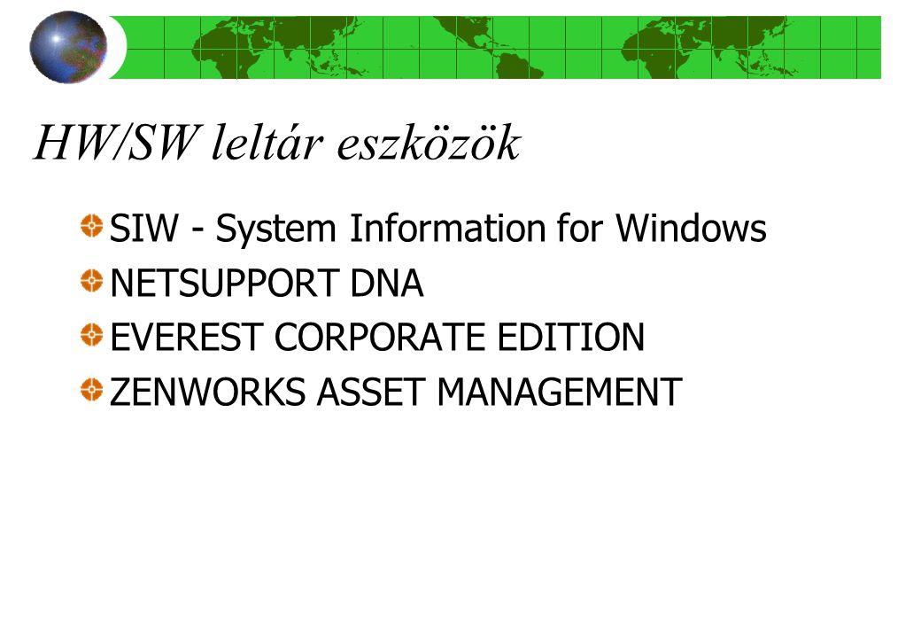HW/SW leltár eszközök SIW - System Information for Windows