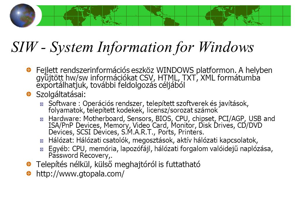 SIW - System Information for Windows