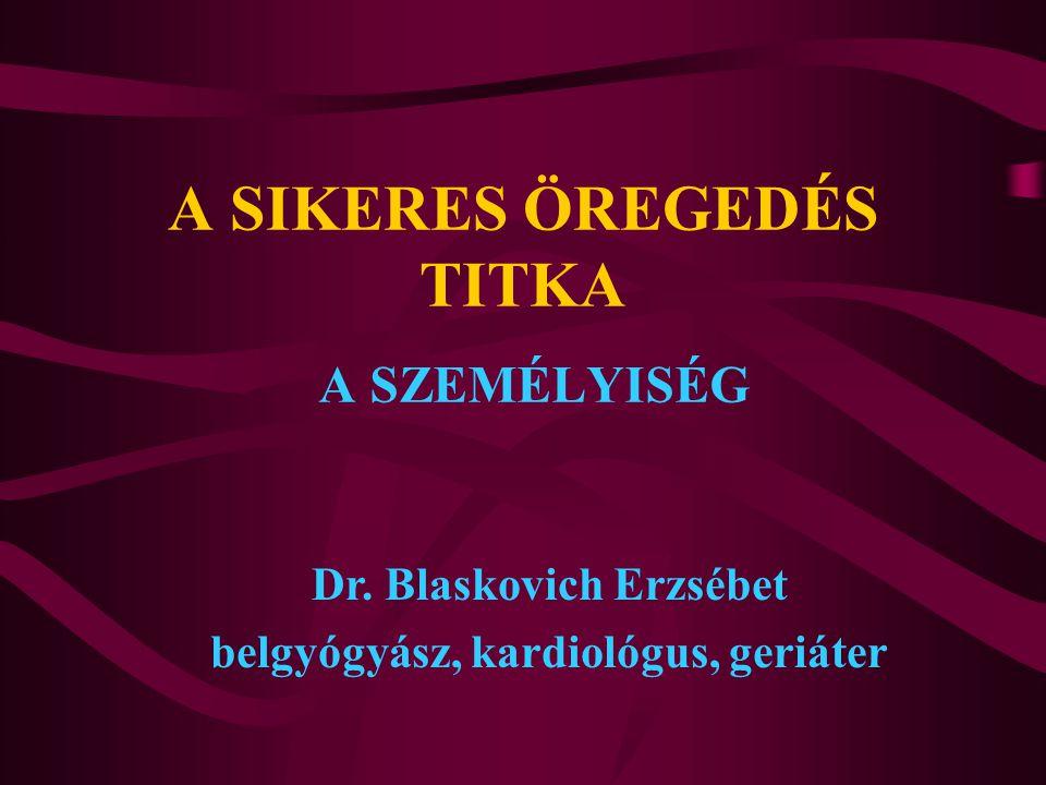 A SIKERES ÖREGEDÉS TITKA