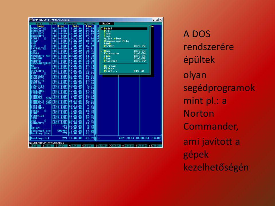 A DOS rendszerére épültek