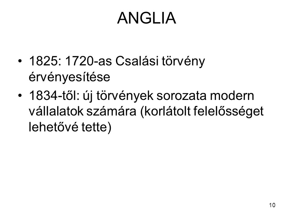 ANGLIA 1825: 1720-as Csalási törvény érvényesítése