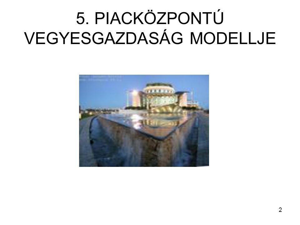 5. PIACKÖZPONTÚ VEGYESGAZDASÁG MODELLJE