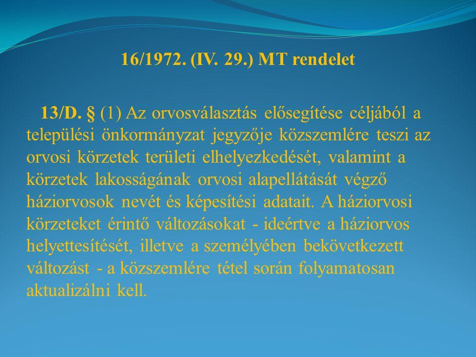 16/1972. (IV. 29.) MT rendelet