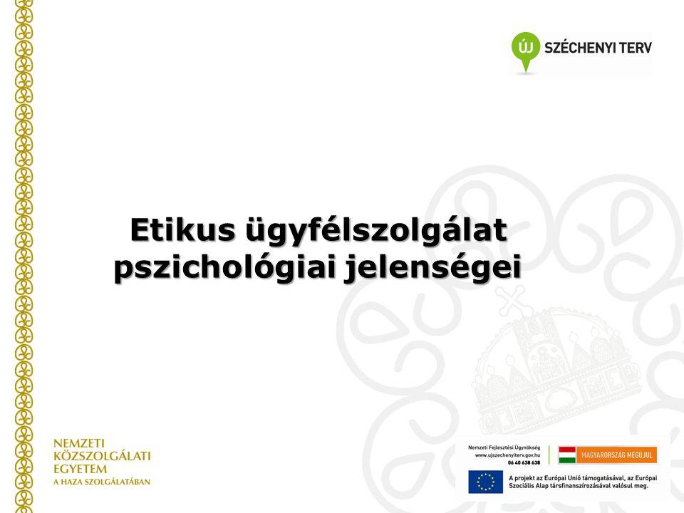 Etikus ügyfélszolgálat pszichológiai jelenségei