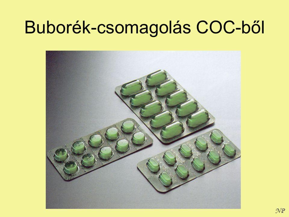 Buborék-csomagolás COC-ből
