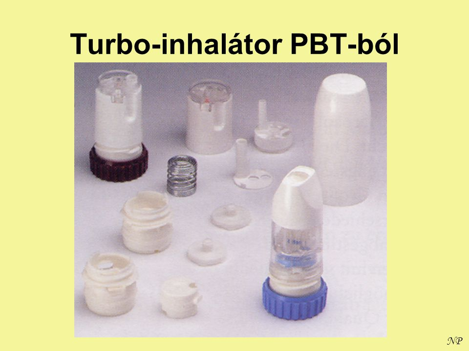 Turbo-inhalátor PBT-ból