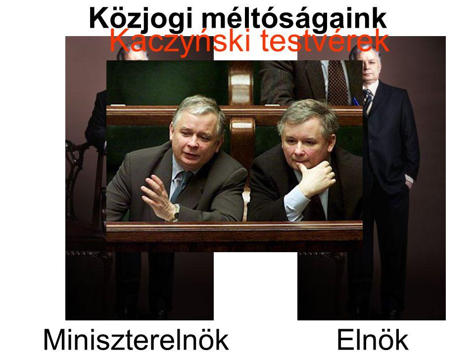 Közjogi méltóságaink Kaczyński testvérek Miniszterelnök Elnök