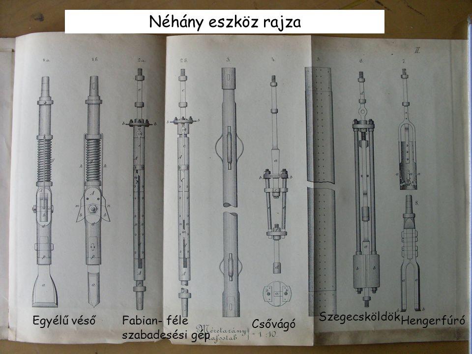 Néhány eszköz rajza Szegecsköldök Egyélű véső
