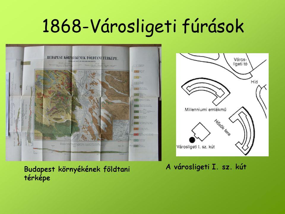 1868-Városligeti fúrások A városligeti I. sz. kút