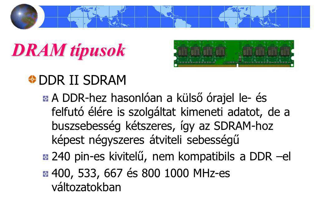 DRAM típusok DDR II SDRAM