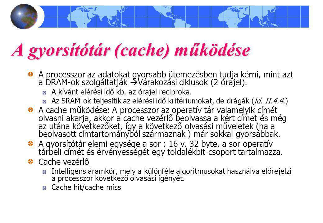 A gyorsítótár (cache) működése