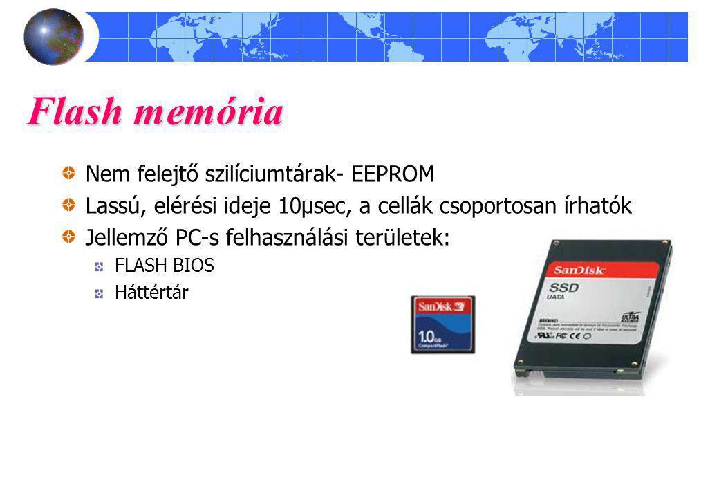 Flash memória Nem felejtő szilíciumtárak- EEPROM