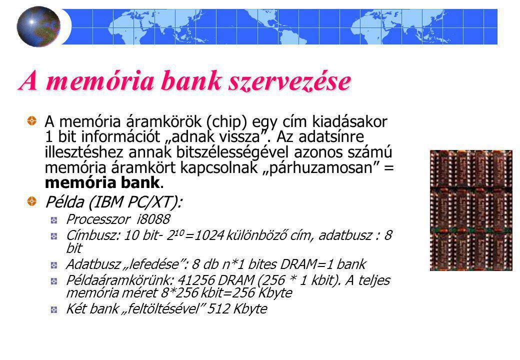 A memória bank szervezése