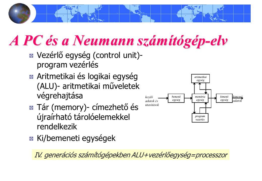 A PC és a Neumann számítógép-elv