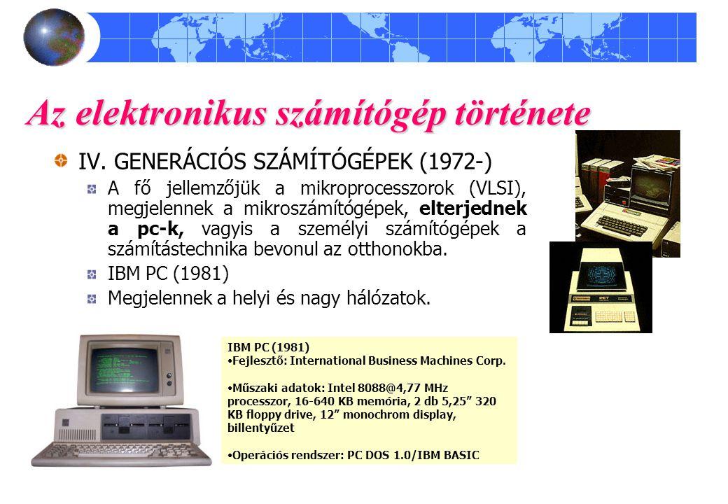 Az elektronikus számítógép története