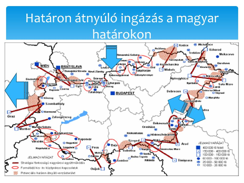Határon átnyúló ingázás a magyar határokon