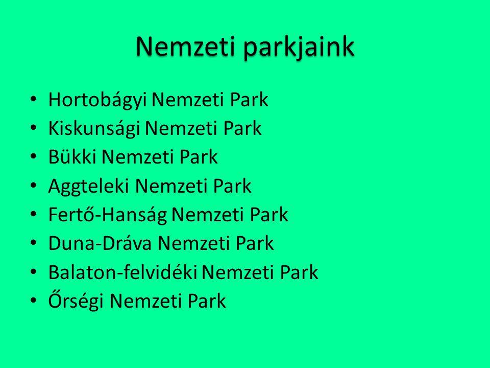 Nemzeti parkjaink Hortobágyi Nemzeti Park Kiskunsági Nemzeti Park