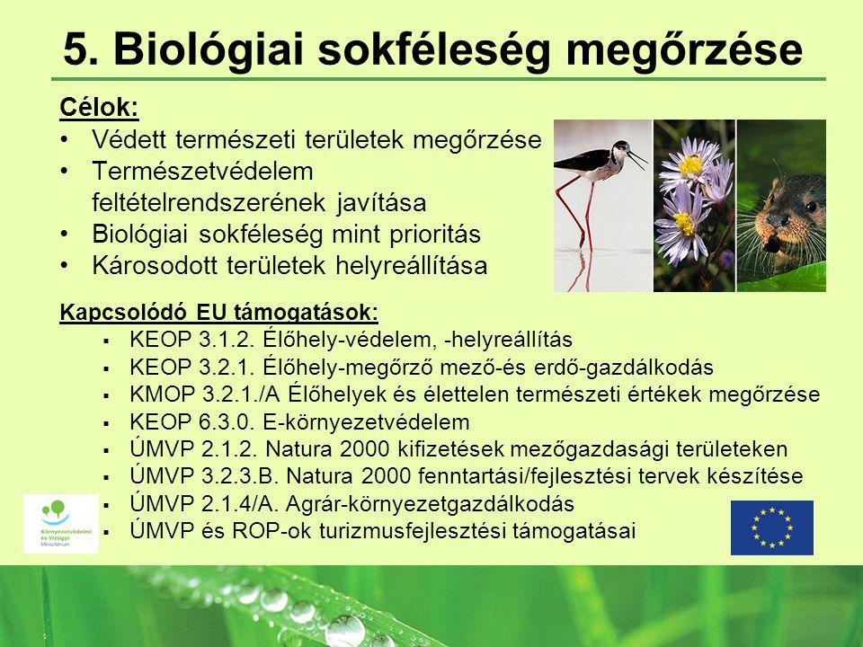 5. Biológiai sokféleség megőrzése