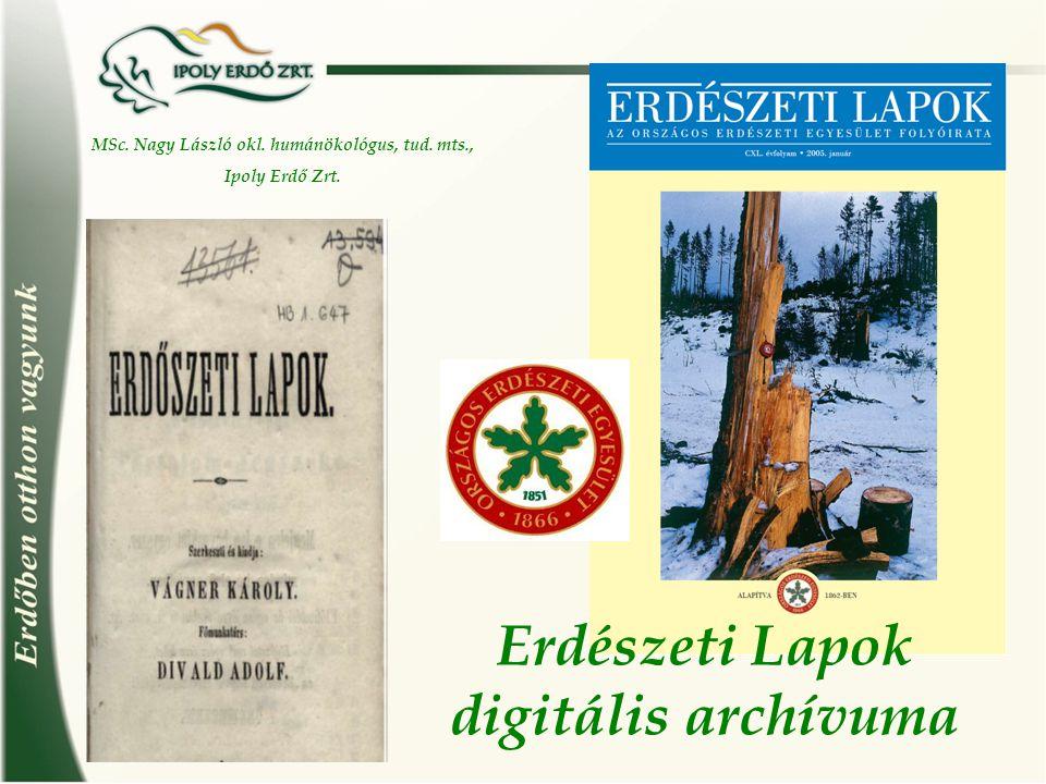 Erdészeti Lapok digitális archívuma