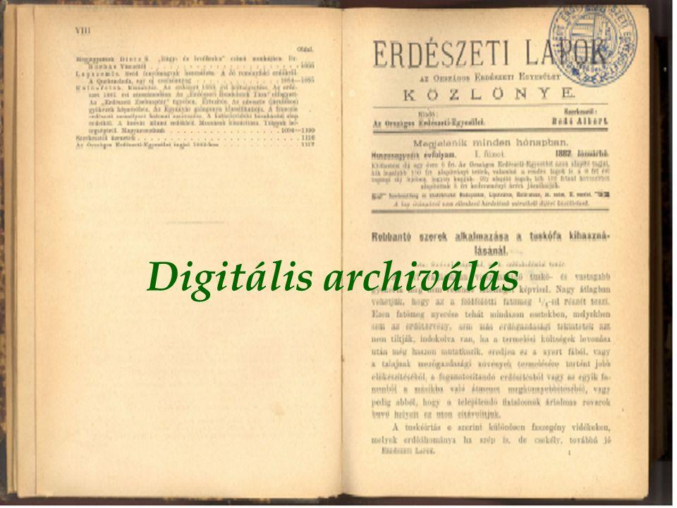 Digitális archiválás