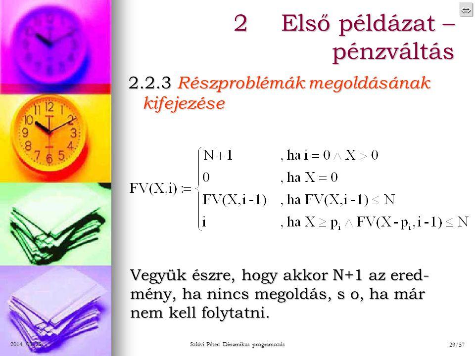 Szlávi Péter: Dinamikus programozás