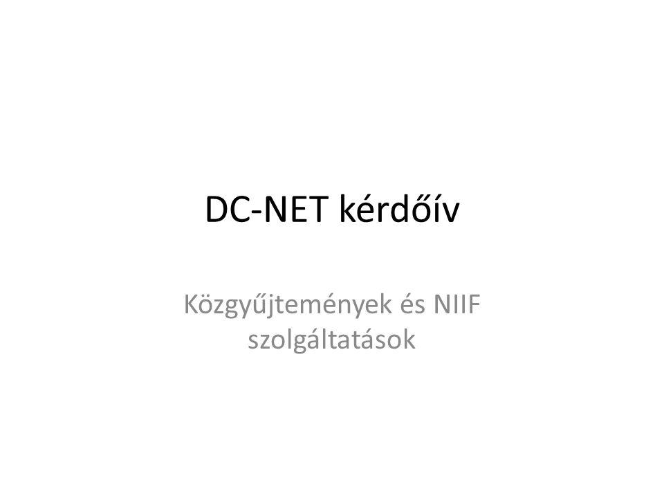 Közgyűjtemények és NIIF szolgáltatások