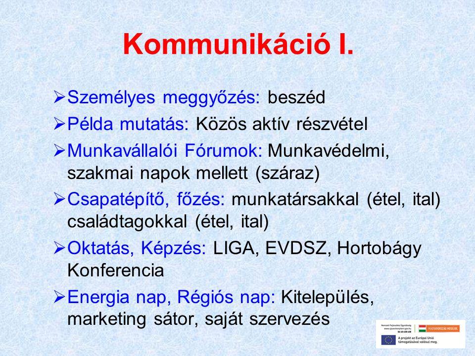 Kommunikáció I. Személyes meggyőzés: beszéd