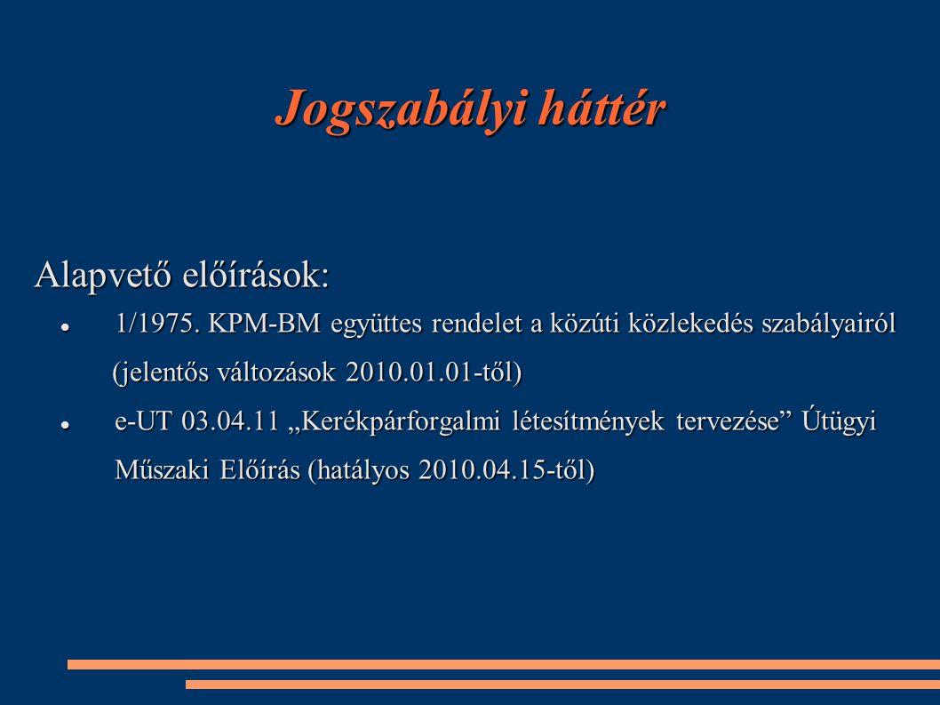 Jogszabályi háttér Alapvető előírások: