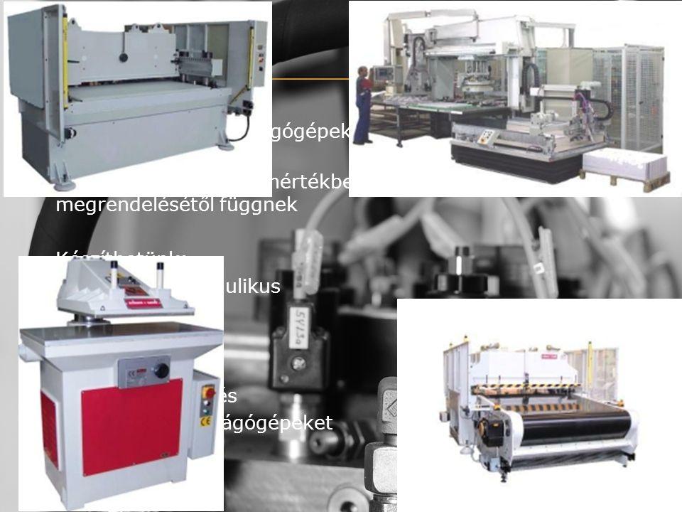 Termékeink Cégünk fő profilja kivágógépek (stancológépek), valamint egyedi gépek gyártása.