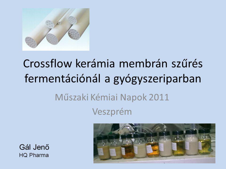 Crossflow kerámia membrán szűrés fermentációnál a gyógyszeriparban