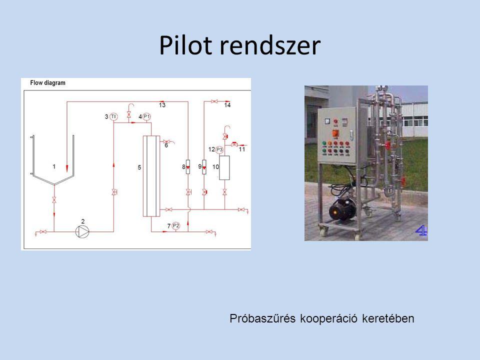 Pilot rendszer Próbaszűrés kooperáció keretében