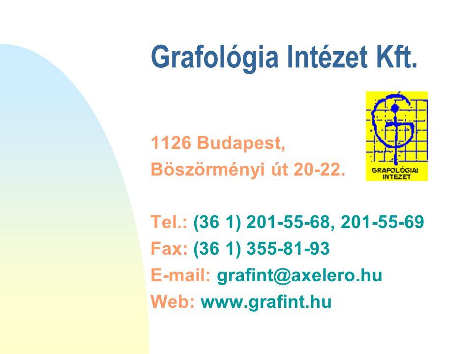 Grafológia Intézet Kft.