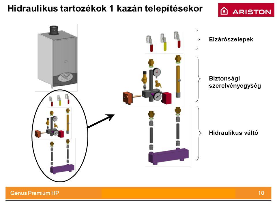 Hidraulikus tartozékok 1 kazán telepítésekor
