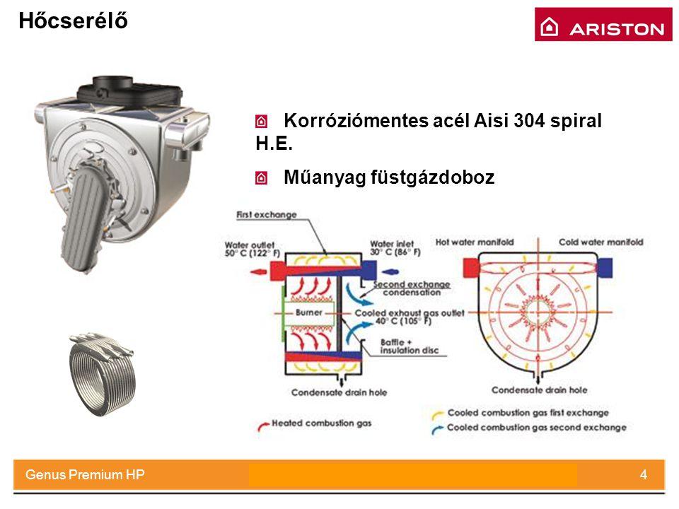 Hőcserélő Korróziómentes acél Aisi 304 spiral H.E.