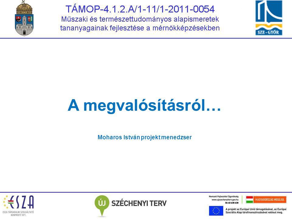Moharos István projekt menedzser
