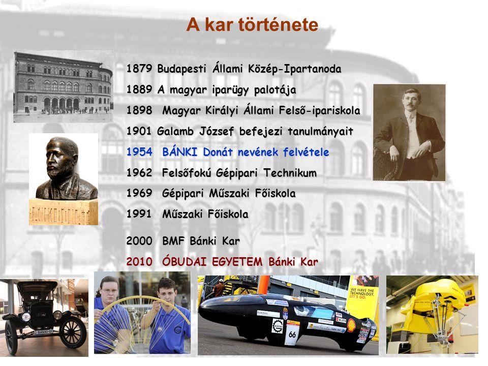 A kar története Budapesti Állami Közép-Ipartanoda