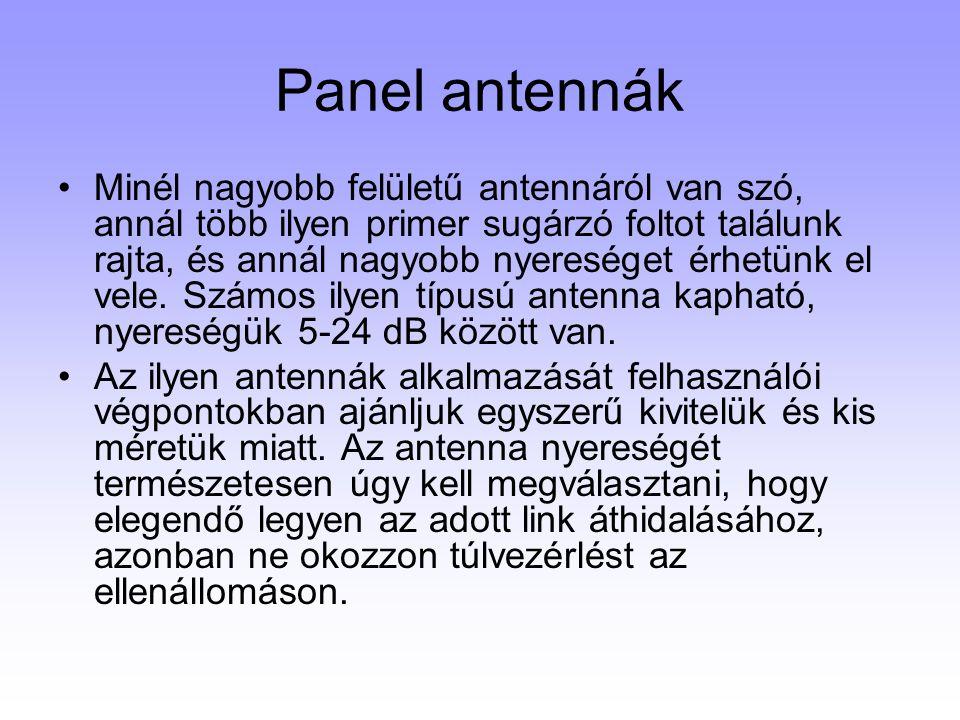 Panel antennák