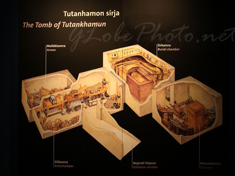 Fáraófalu egyik fő vonzereje Tutanhamon sírjának pontos mása.