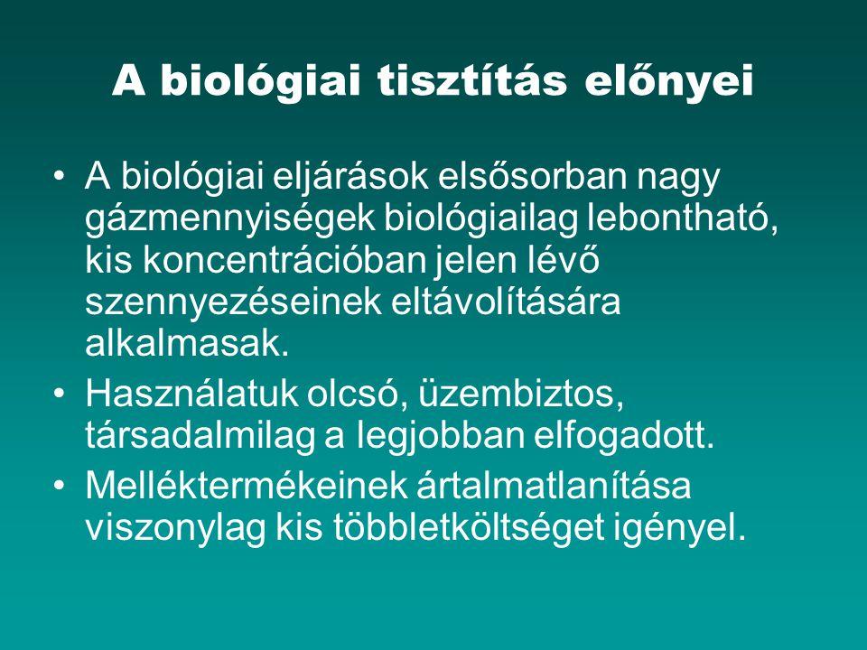 A biológiai tisztítás előnyei