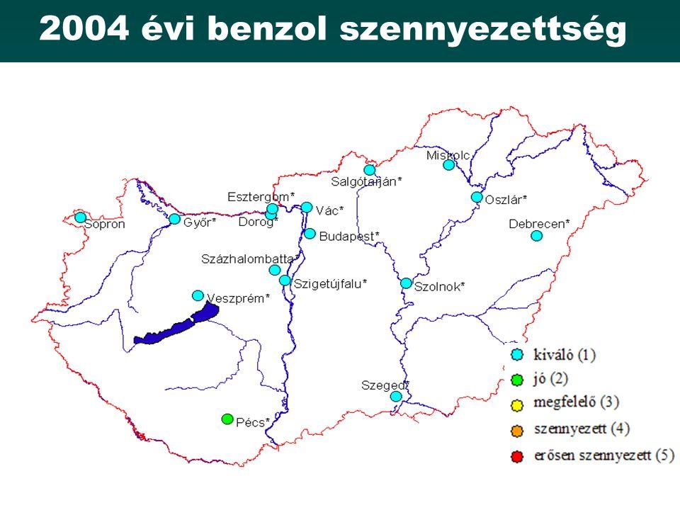 2004 évi benzol szennyezettség