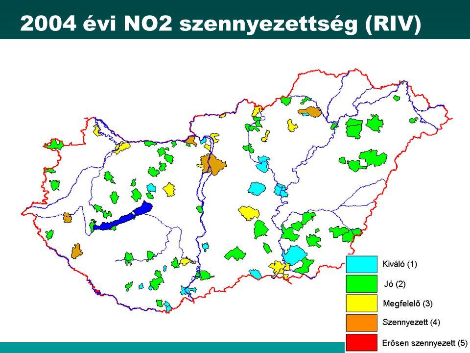 2004 évi NO2 szennyezettség (RIV)