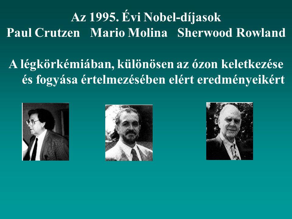Paul Crutzen Mario Molina Sherwood Rowland